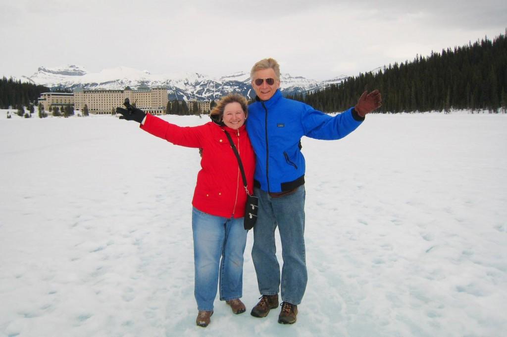 On Lake Louise