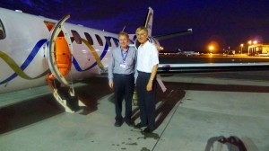 With Dave After the Flight