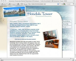 Honolulu Tower 2003 Home Page