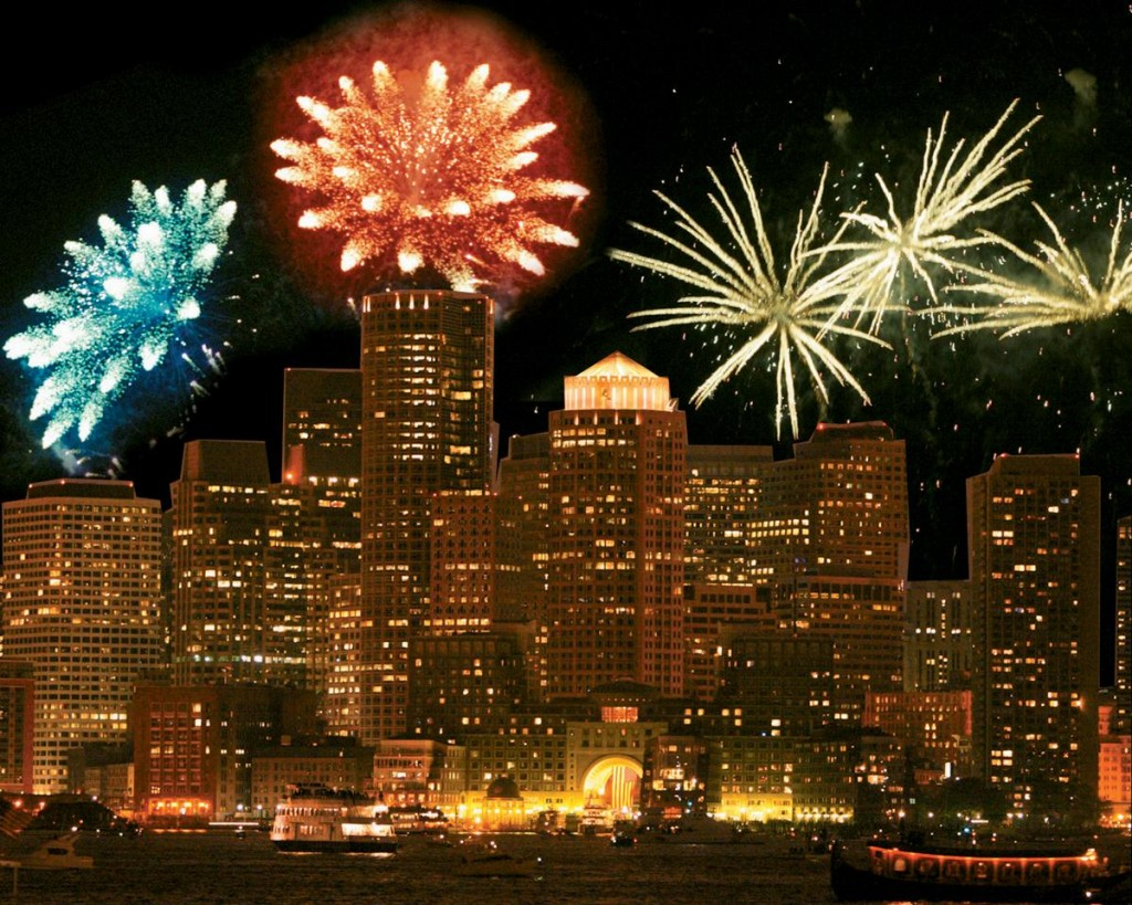 Fireworks Over Boston Harbor Hotel