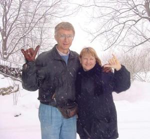 Harrison & Sharene in Snow