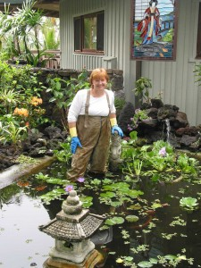 Sharene in the Pond