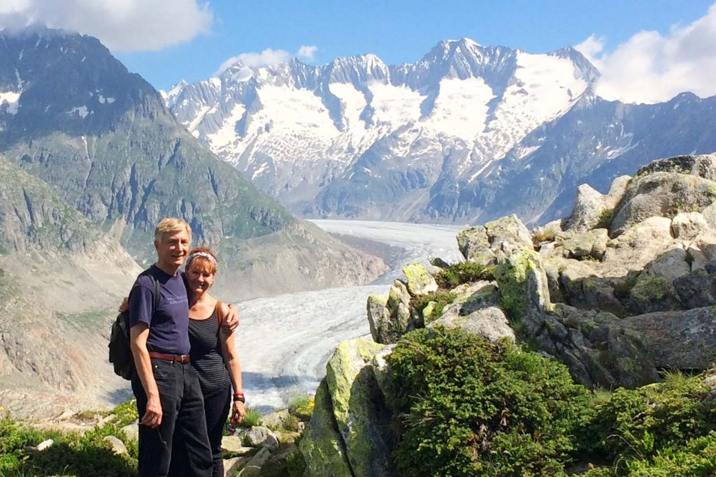 Back in Switzerland for our 25th Wedding Anniversary